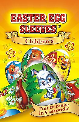 # 6 Children Rabbit  Easter Egg sleeves Shrink Wrap Pysanka Easter Egg Ornament