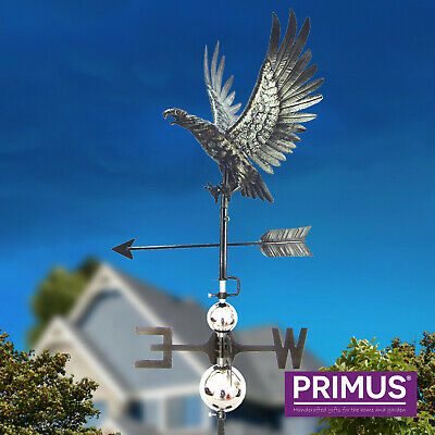 Primus 3D Peacock Stainless Steel Weathervane with Garden Stake Weather Vane