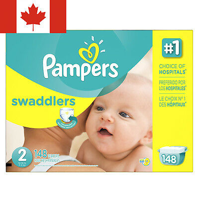 Pampers Size 2 Swaddlers Diapers, 148 Count