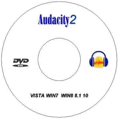NEW Audacity 2 CD  DVD Professional Audio Production Editing Recording Software