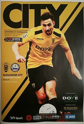 Gloucester City vs Braintree Town - 2017/18 National South Programme