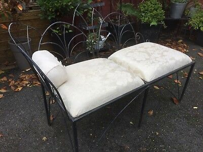 Ornate Iron Chaise  Indoor Or Outdoor 2 Seater