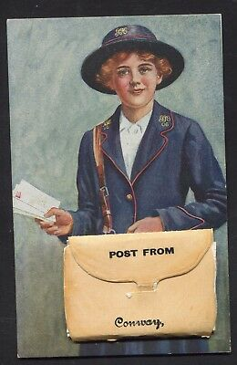 Conway Novelty  Post Woman & Bag PULLOUT (WW1)
