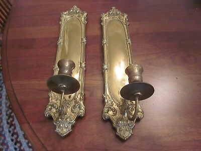 Vintage Tell City Wall Sconces Candle Holders