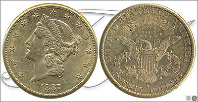 United States - Coins circulation- Year: 1887 - number KM00074.3-1887S - MBC+