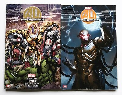 Age of Ultron + Companion Marvel Graphic Novel Comic Book Lot