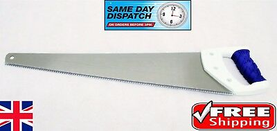 Steel Blade Hand Saw 22 inches DIY Hand Tool Saw Soft Plastic Handle FREE PP