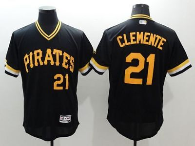 #21 Clemente Men's Throwback Pittsburgh Pirates Willie Baseball Jerseys M-3XL