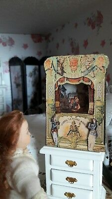 1:12th scale play theatre ~ french guignol /mr punch~display~hand made by suey