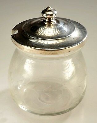Antique S.Kirk & Sons Sterling Silver Condiment Jar Cut Glass