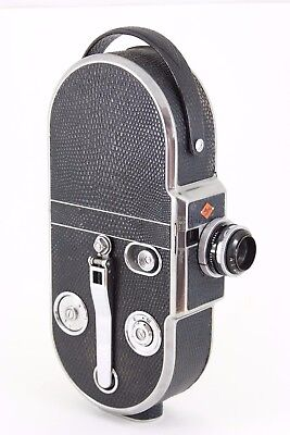 "AGFA Movex 16mm camera with DALLMEYER ""SPEED""  20mm f1.5 lens and case"