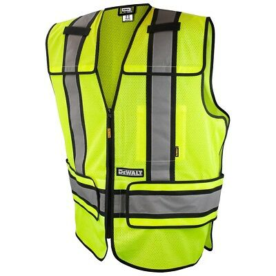 DeWALT Class 2 Adjustable Reflective Mesh Safety Vest, Green