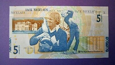 Jack Nicklaus £5 note, Uncirculated