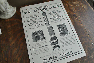 1897 American Office Furniture Advert Globe And Wernicke     (Thomas Turner)