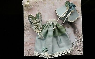 1:12th scale~victorian 3 piece gown outfit~ hand made by suey