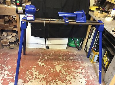 Record Power Dml 24X Wood Turning Lathe Complete With Leg Stands