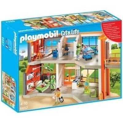 **NEW** Playmobil Hospital 6657 City Life Furnished Children's Hospital