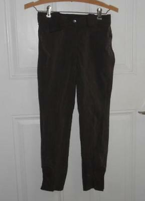 Riding Breeches 150 Juniors Kingsland DK Brown Jodhpurs Adjustable Waistband