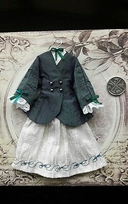 1:12th scale~ victorian gown jacket hanging display~ hand made by suey