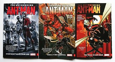 The Astonishing Ant-Man Vol. 1 2 & 3 Marvel Graphic Novel Comic Book Lot