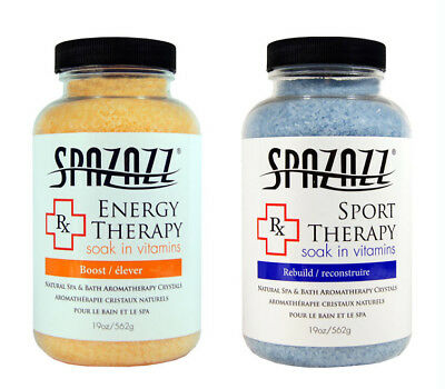 Spazazz Aromatherapy Spa and Bath Crystals 2Pk - Energy/Sport Therapy