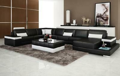 wohnlandschaft polster ecke eck sofa couch garnitur landschaft leder neu ph739 eur. Black Bedroom Furniture Sets. Home Design Ideas