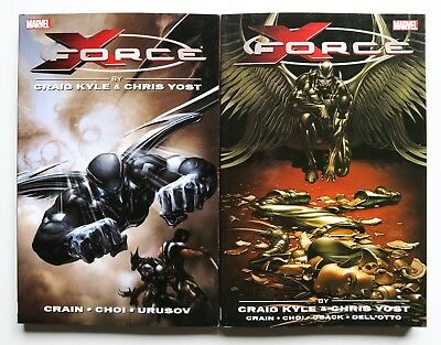 X-Force Complete Collection Vol. 1 & 2 Marvel Graphic Novel Comic Book Lot of 2