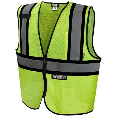 DeWALT Class 2 Reflective Mesh Safety Vest, Yellow/Lime