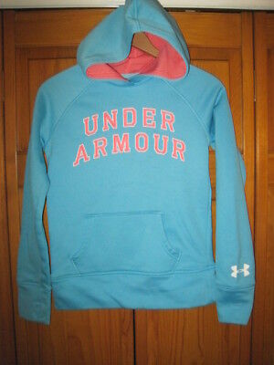 Under Armour Cold Gear hoodie sweatshirt girls YMD M blue pink fall soccer