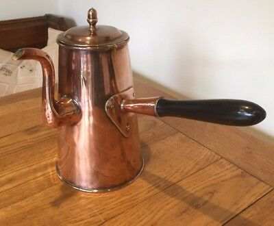 Antique Copper Coffee Pot Jug Chocolate ( Georgian? )