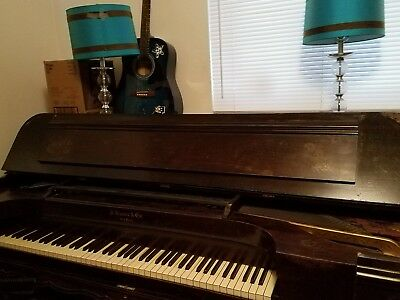 Victorian era antique SQUARE grand piano