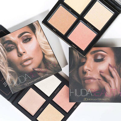 NEW Huda Beauty 3D Highlighter Palette Golden Sands & Pink Edition Make Up