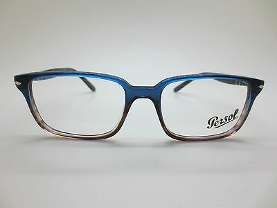 eb3bb982c941 New Authentic PERSOL 3013-V 1010 Blue-Brown Gradient Rx 53mm Eyeglasses