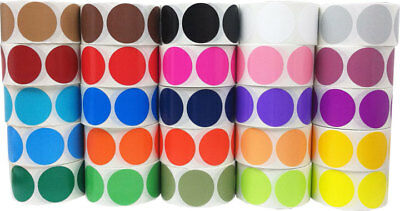 Circle Dot Stickers, 2 Inches Round, 53 Color Choices, 500 Labels on a Roll
