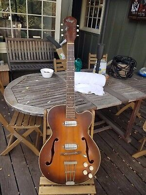 Vintage 1960's Kay 6550 P4 Electric Archtop with 2 Speed Bump Pickups