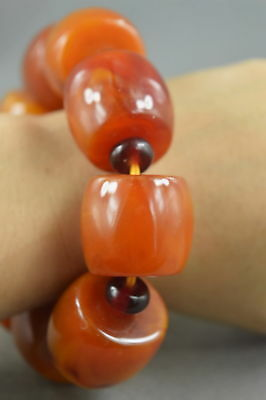 Collectable Handwork Decor Carving Texture Glossy Bead Royal Auspicious Bracelet