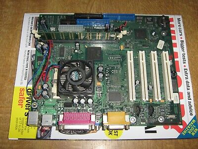 Intel Motherboard & Plll 1 Ghz CPU & HSF & RAM