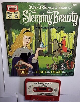 Sleeping Beauty See Hear Read Softcover Book And Cassette Disney 1977