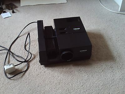 Chinon 6000 Slide Viewer Projector With Slide Cartridge Powers Up & Lights Up Nr
