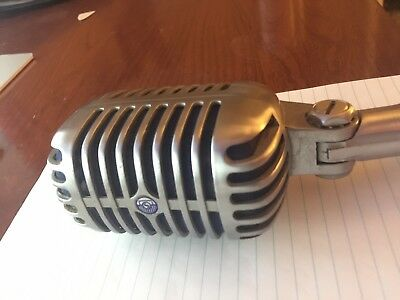 Vintage 1959 Shure 55S Dynamic Microphone Working Old Antique
