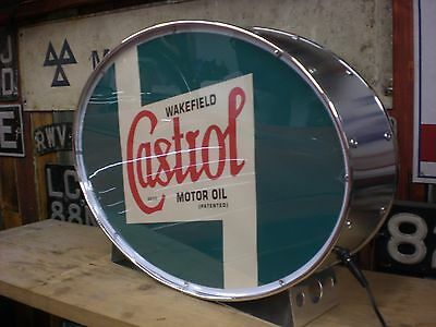 Castrol,racing,vintage,classic,oil,mancave,lightup sign,garage,workshop,shed