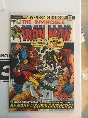 Invincible Iron man # 55 NM- 9.4 or better CGC IT   First Thanos