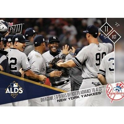Topps Now Ny Yankees Overcome 2-0 Series Deficit To Advance To Alcs  Mlb #749