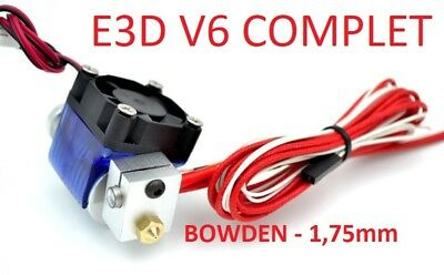 J-Head type E3D V6 complet extrudeur bowden filament 1,75mm - Anet A8, prusa...