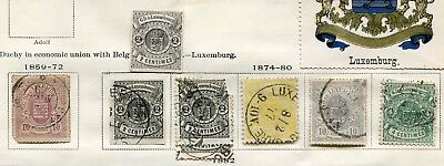 LUXEMBOURG -  Small collection MH/Canc.