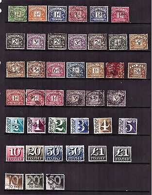 GB Great Britain Postage Due Stamps. (41 STAMPS) #1