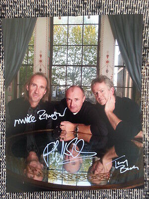 Genesis Band Phil Collins Hand Signed Autograph 8 x 10 Photo with COA