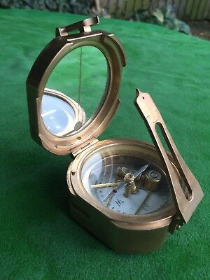 Antique Prismatic Surveying Compass By Troughton & Simms, London, Military WW2?