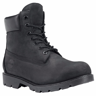 Men's Shoes Timberland 6 Inch Basic Waterproof Boots 19039 Black Nubuck *New*