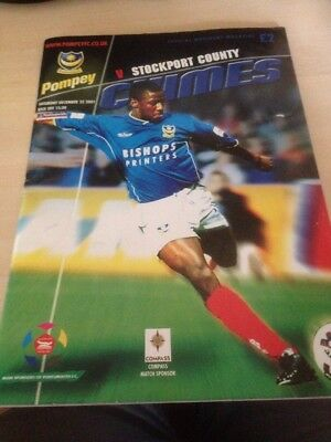 Portsmouth Vs Stockport County 22.12.2001